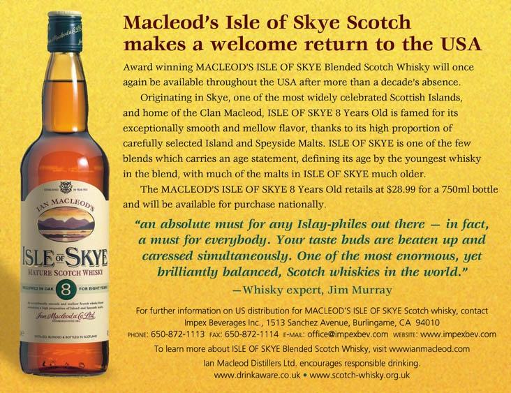 Isle of Skye Returns to the USA!