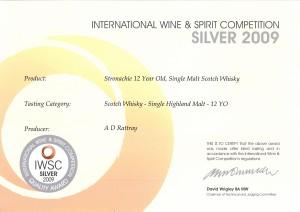 iwsc-silver-medal-ceritficate-stronachie-20091