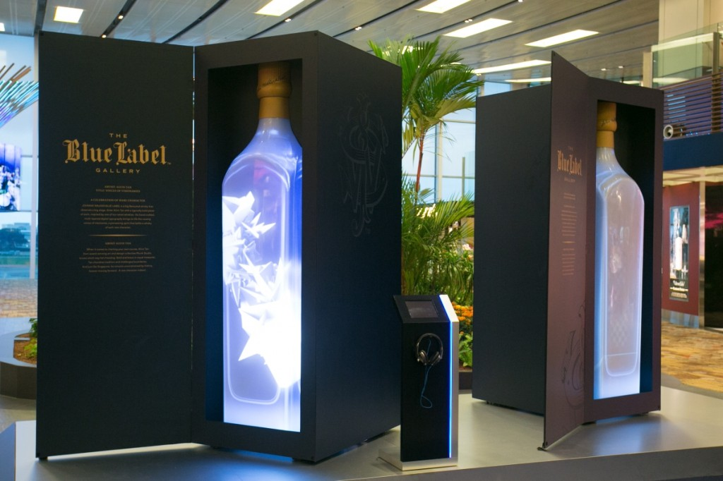 AA The JOHNNIE WALKER Blue Label Gallery lights up Singapore Changi Airport