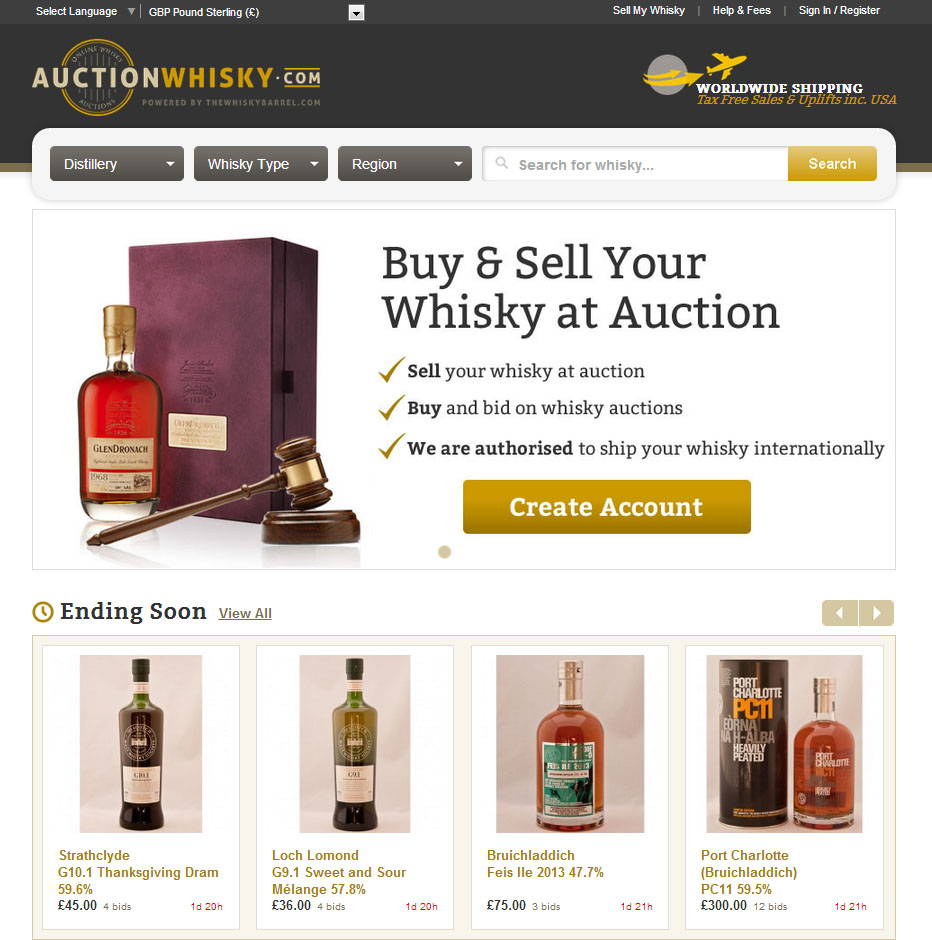 AA auction-whisky-home