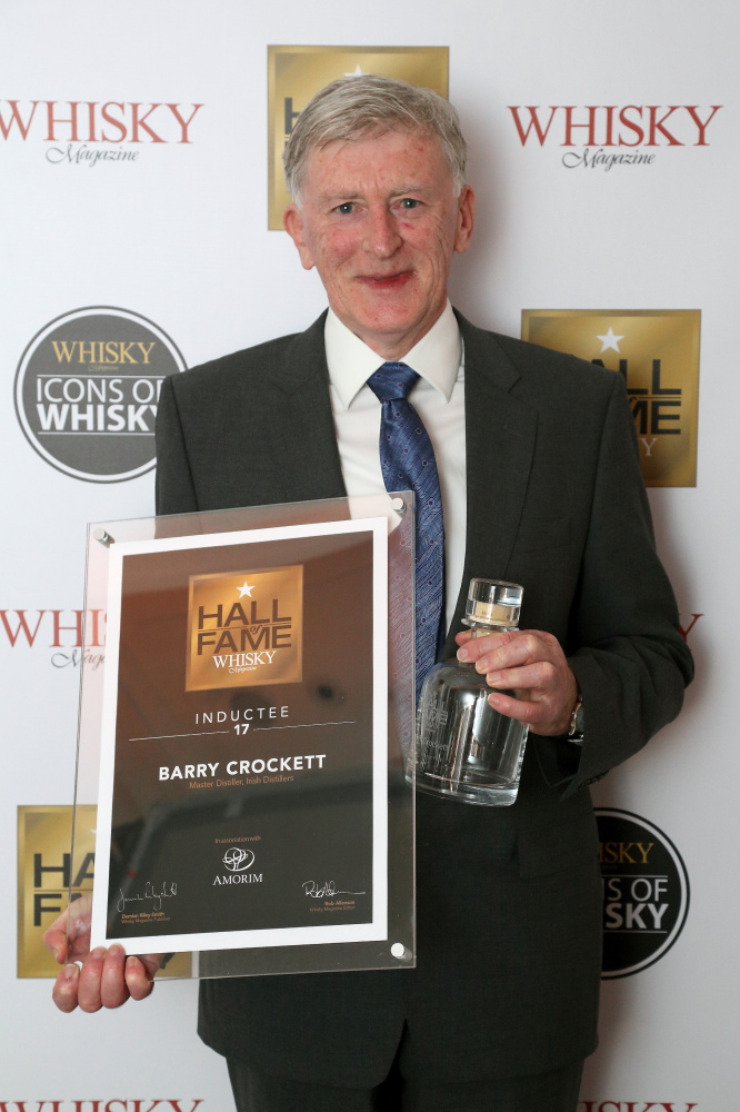 AA BARRY CROCKETT - 17TH INDUCTEE INTO THE  WHISKY MAGAZINE HALL OF FAME