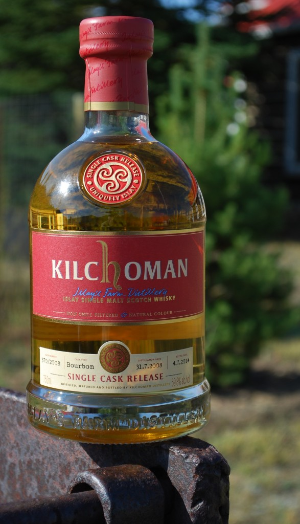 Kilchoman single malt Scotch and the inn's Scotch pine