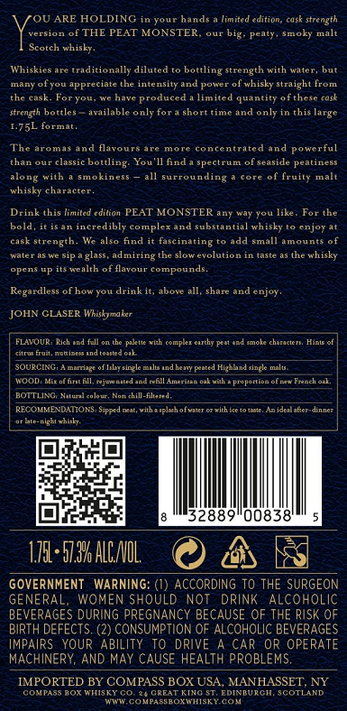 Peat Monster CS back label