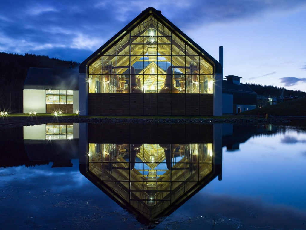 AA Dalmunach Distillery External Night