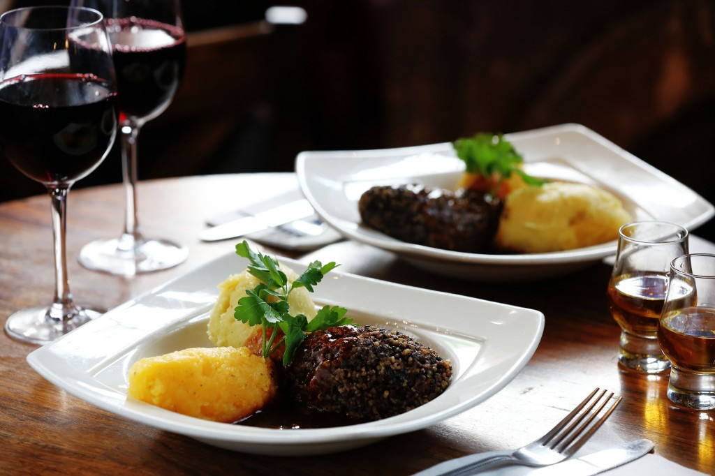 Nicholson's Burns Night Menu - Haggis, neeps & tatties