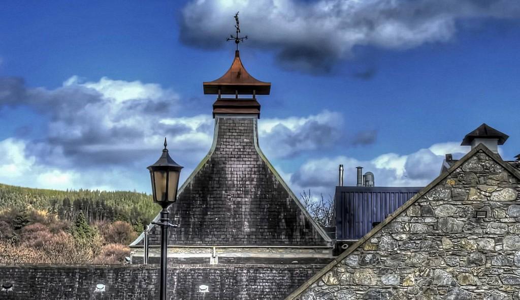 Pagodas at Glenfiddich Distillery Dufftowm Speyside