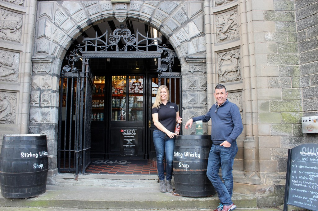 June and Cameron McCann at Stirling Whisky Shop