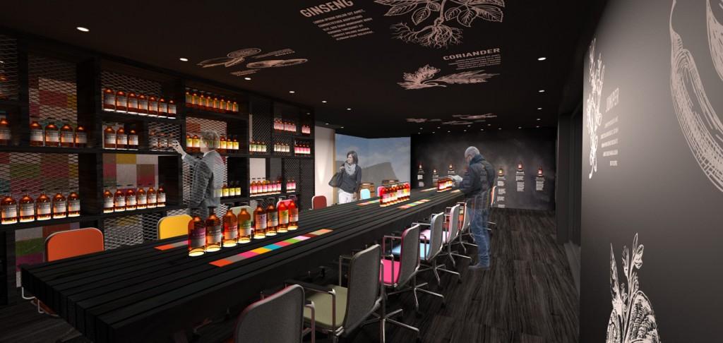 Holyrood Distillery tasting room