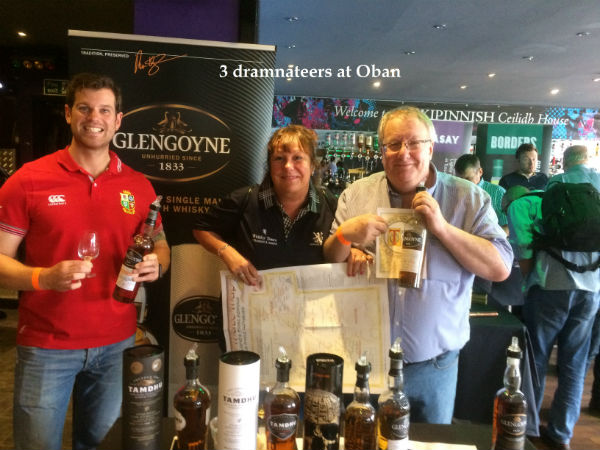 Andy Liz and Paul at Oban whisky fest 2017