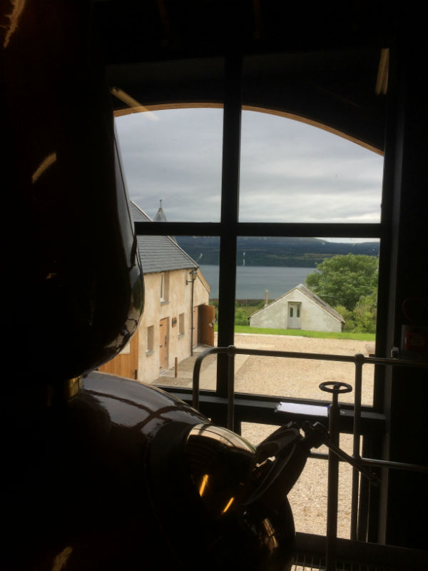 the view to Mull from the Drimnin still room