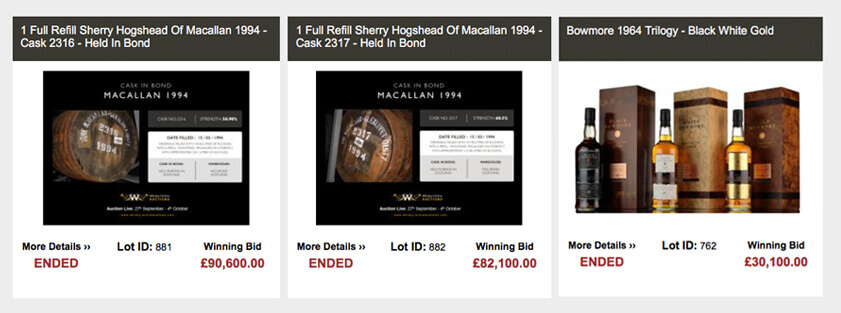 Top whisky results