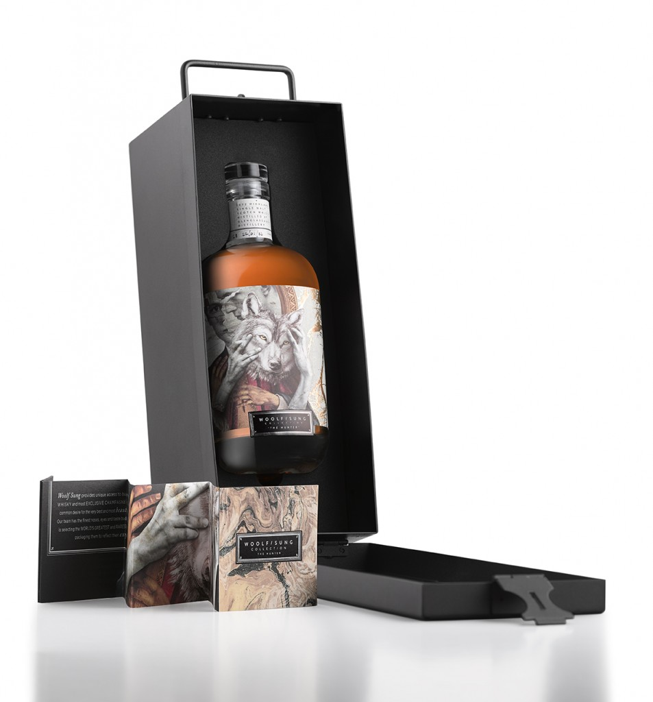 WoolfSung Ltd Ed (Open Box with bottle inside) on white v2