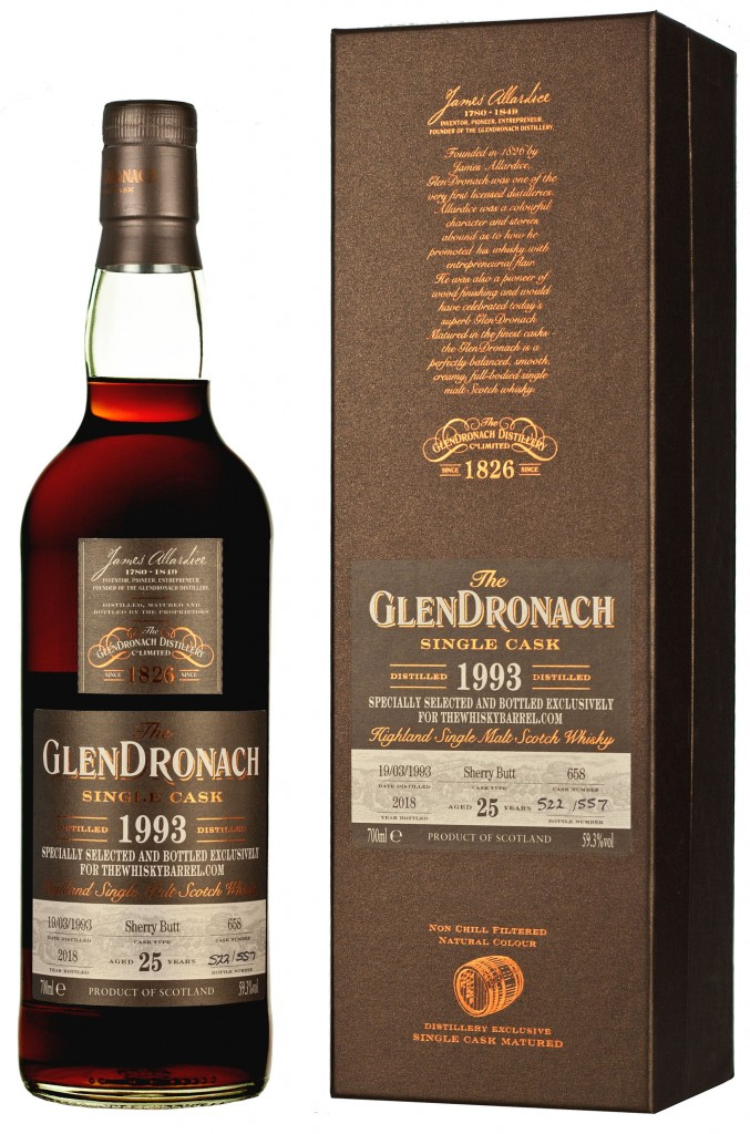 HI-RES Glendronach 25 year old 1993 exclusive bottle and glass FULL