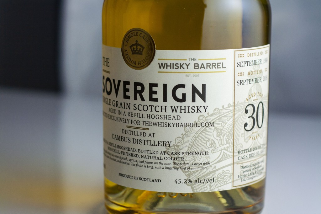 cambus 30 year old 1988 sovereign TWB label exclusive