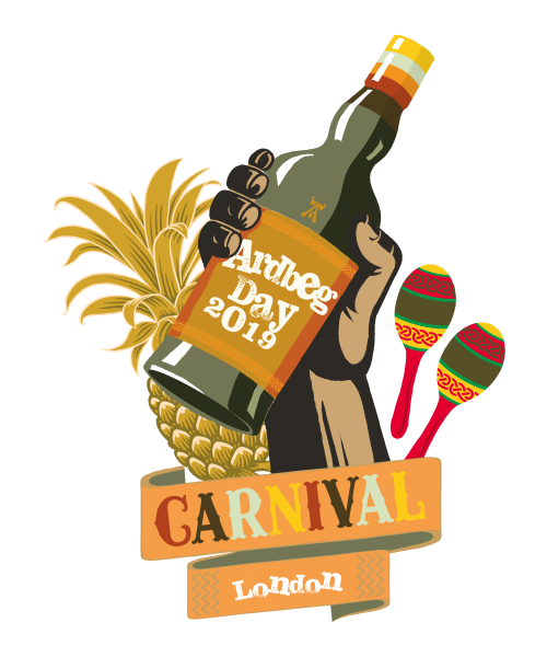 Ardbeg Day 2019 Hand Bottle Illustration LONDON (002)