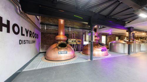 Holyrood Distillery whisky stills and washbacks