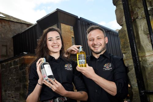 Rebecca Orr and Éoin Ó Murchú Holyrood Distillery Visitor Centre staff_ (002)
