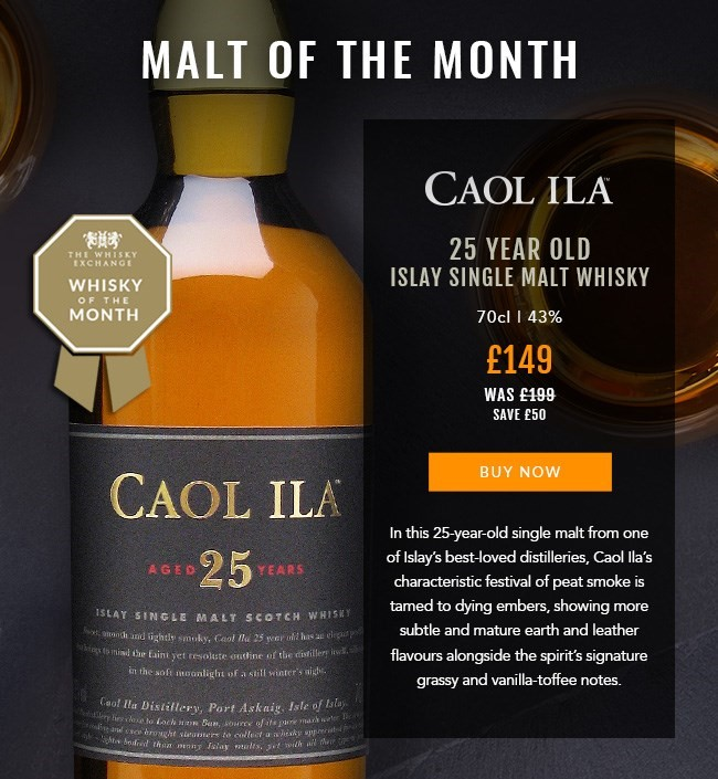 Malt of the Month at The Whisky Exchange – Caol Ila 25 Year Old
